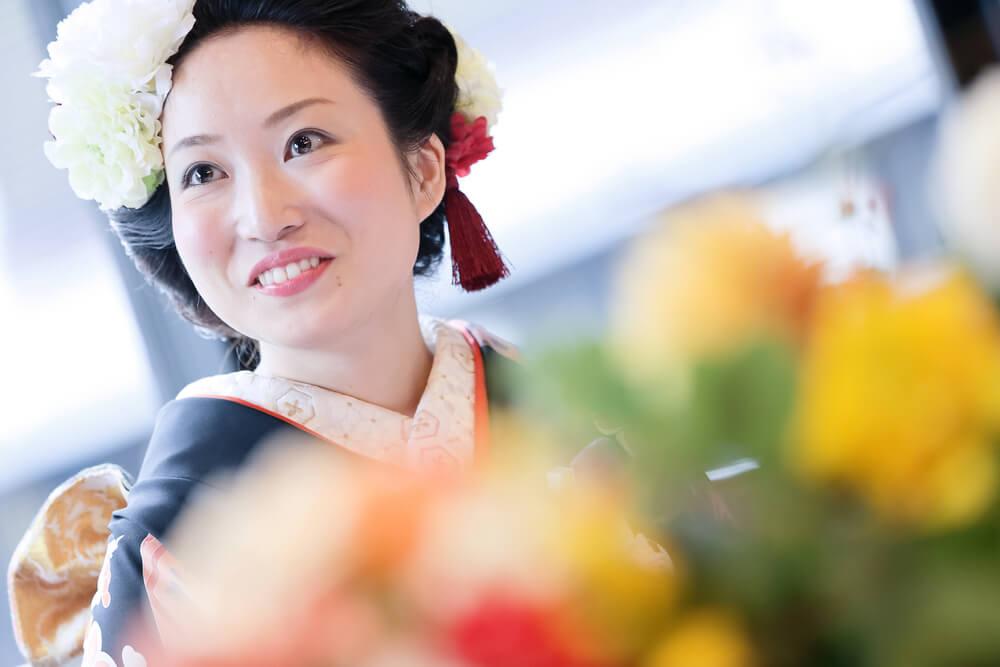 花嫁のコーディネート次第で、お洒落な和婚の雰囲気をさらに盛り立ててくれます。